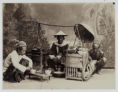 penjual minuman tjao - jawa 1890