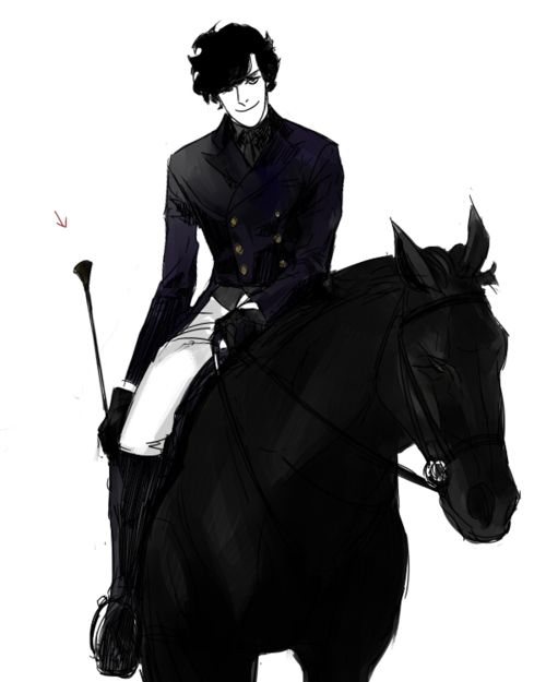 Sherlock... Horses... Young Sherlock on a horse. Oh my, I feel faint. << Yes, oh. oh my.
