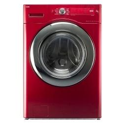 Cherry red washing machine by Asko!