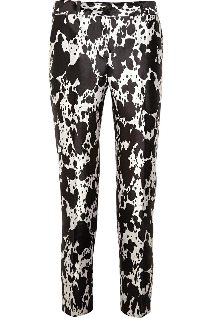 Printed silk and wool-blend pants by Michael Kors