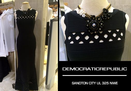 With Chic silhouettes and attention to detail - you bound to find your perfect dress @DemocraticRepublic Sandton City