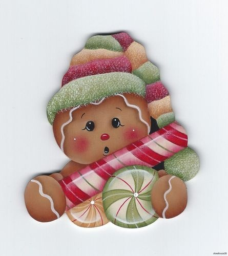 Gingerbread with Candies Fridge Magnet