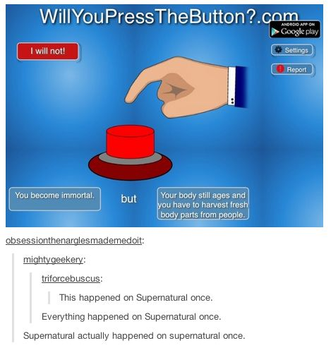 When they got meta: | 18 Times The Supernatural Fandom Hilariously Hijacked Tumblr Posts