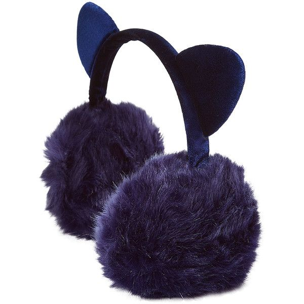 Jeanne Simmons Accessories Navy Cat Earmuffs ($7.99) ❤ liked on Polyvore featuring accessories and fuzzy earmuffs