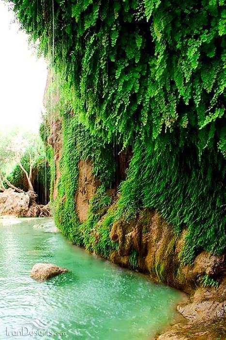 Bibiseyedan waterfall, Semirom, Isfahan province, Iran (in Persian: آبشار بی بی سیدان، سمیرم، استان اصفهان)