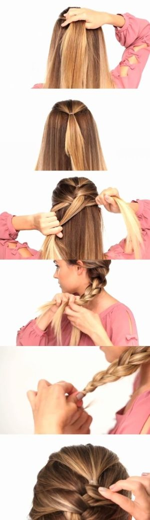 brilliant tip for french braids. I have a girl and am terrible at this!