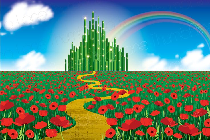 Printable Wizard of Oz Backdrop, Instant Download, 6ft x 4ft, Wizard of Oz Background, Banner, Party Prop, Photography Prop by ThumbAlinaLane on Etsy
