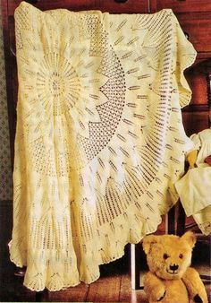 BaBY HEiRLOOM VINTAGE SHaWL BLaNKET RUg LACeY PATTERN by Crafting4Ever2013, $2.00 INSTANT DOWNLOAD KNITTING PATTERN ONLY