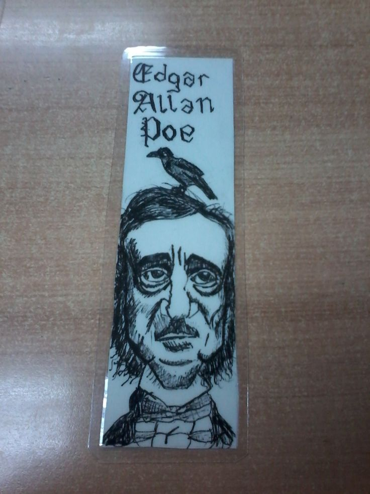 Edgar Allan Poe Marcadores de libro www.raicesescultura.cl