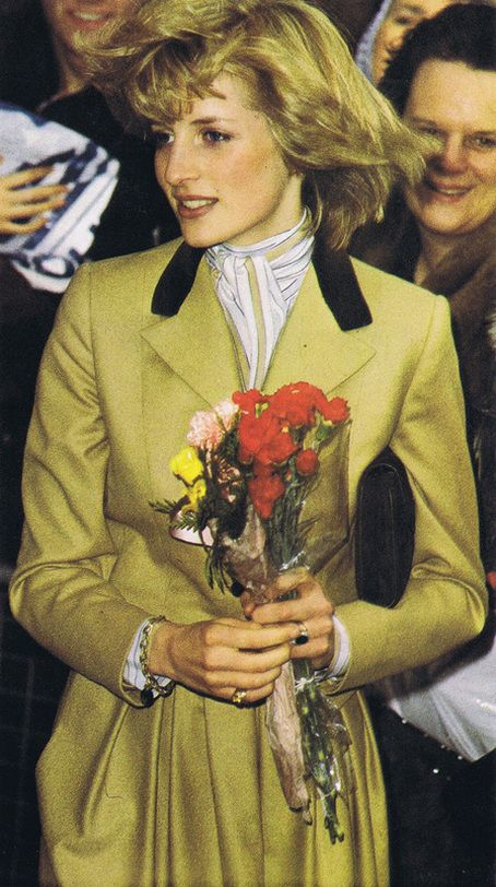 Princess Diana...young and very thin. My God, what an English beauty, love her hair...
