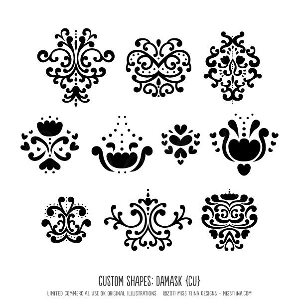 Simple Damask Icons | LASER CUTTING | Pinterest | Shops ...