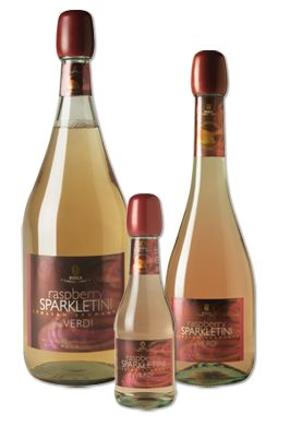 "Raspberry Sparkletini!!!! Delish! Add a bottle of this with a 2 liter bottle of ginger ale, and a frozen bag of strawberries for an instant ""Strawberry Champagne"""