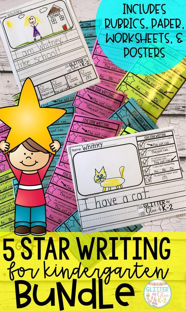 Five Star Writing Bundle Kindergarten Writing Writing Bundle First Grade Writing [ 1226 x 736 Pixel ]