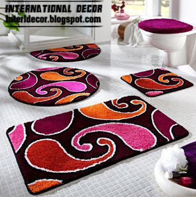 Bathroom carpets, bathroom rugs models, colors
