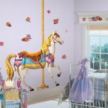 Carousel Horse Giant Wall Decal http://www.muralsforkids.com/products/Carousel-Horse-Giant-Wall-Decal.html
