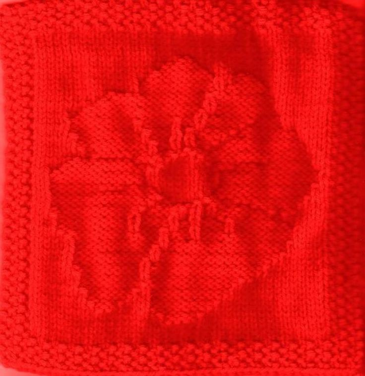 Anzac Poppy Knitted Dishcloth Pattern | Craftsy