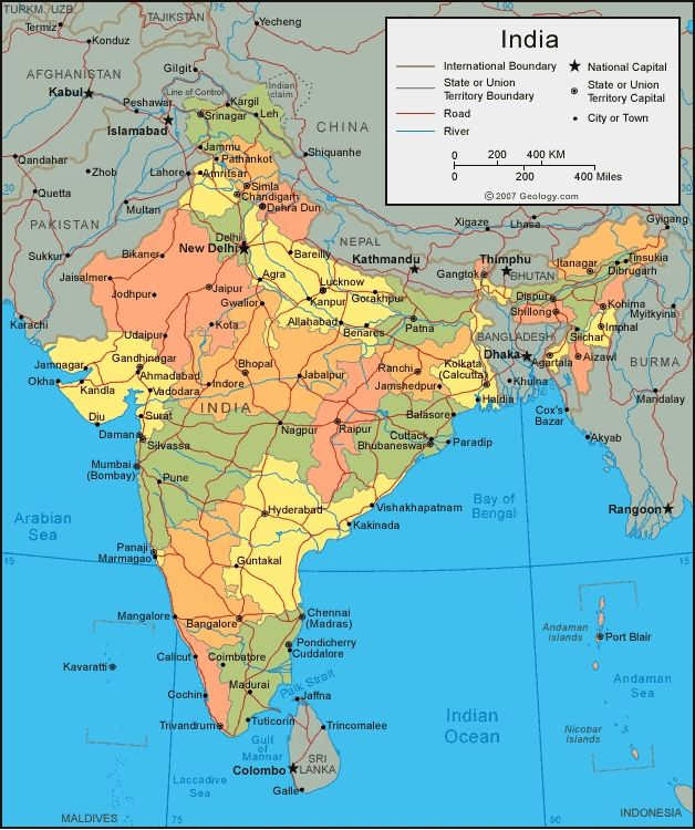 Setelight Map Of India.India Map And Satellite Image Geographical Map Of India 628 X 750