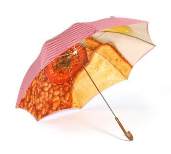 London Undercover, slim walker English breakfast umbrellaEnglish Food, Breakfast Brolly, English Breakfast, Art Umbrellas, Breakfast Food, Food Umbrellas, Comforters Food, London Undercover, Breakfast Umbrellas