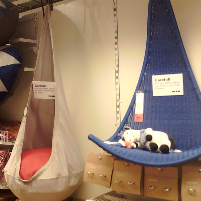 Super Cute Hanging Chairs For Kids Ikea About $69 (blue Chair)
