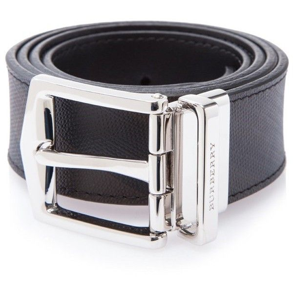 Burberry Men's Smoked Check James 35Mm Reversible Pin Belt (400 CAD) ❤ liked on Polyvore featuring men's fashion, men's accessories, men's belts, black, men's reversible belt, mens belts and burberry mens belt