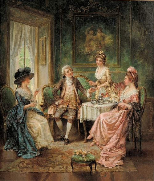 Edward Percy Moran (1862 - 1935) - Tea time
