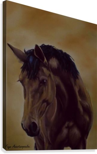 Horse, painting, canvas print