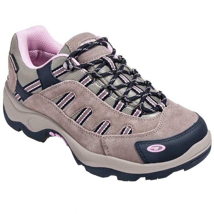 Hi-Tec Boots Hi-Tec Shoes Women's Taupe Bandera Low Waterproof Hiking Shoes 22033,    #HiTecBoots,    #22033,    #Women'sHikingShoes