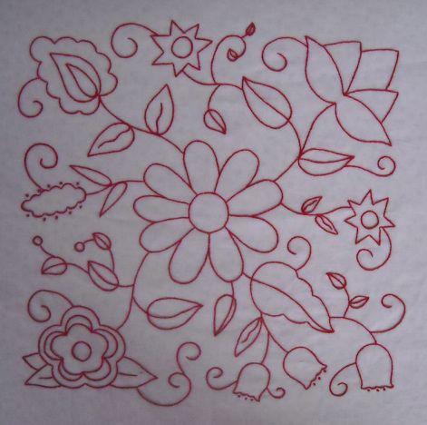 Hazel's Summer Wildflowers, Block 1