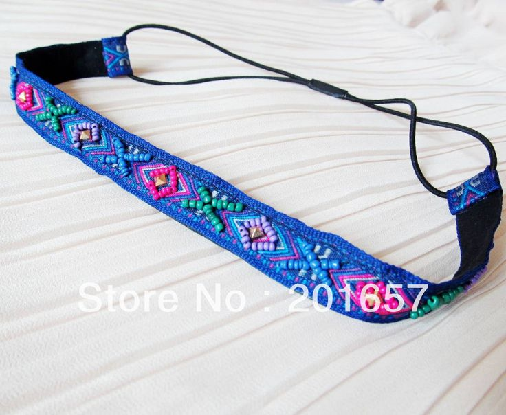 Wholesale and Retail korea style vintage bohemian sewing beads flower shape headbands hiar accessories 12pcs/lot $18.00