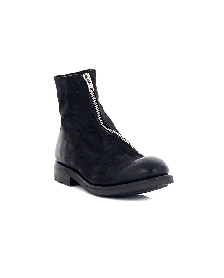 THE LAST CONSPIRACY LEATHER ANKLE BOOTS The Last Conspiracy Woman Black ankle  boots with zipper calfskin