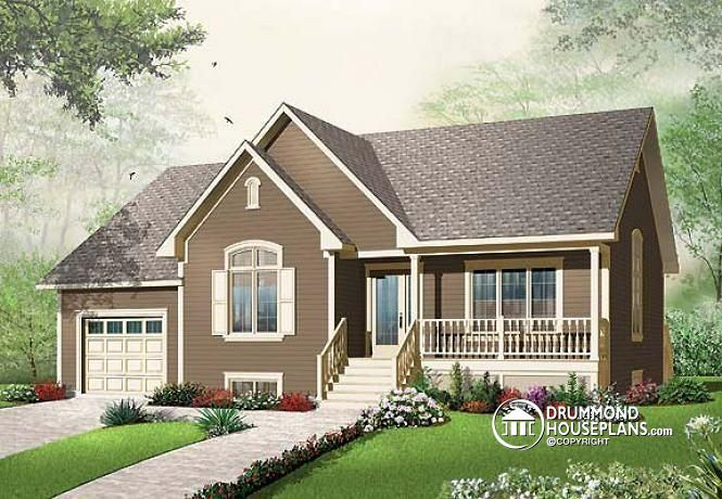 W3261 Ranch Style 2 Bedroom Bungalow With Unfinished