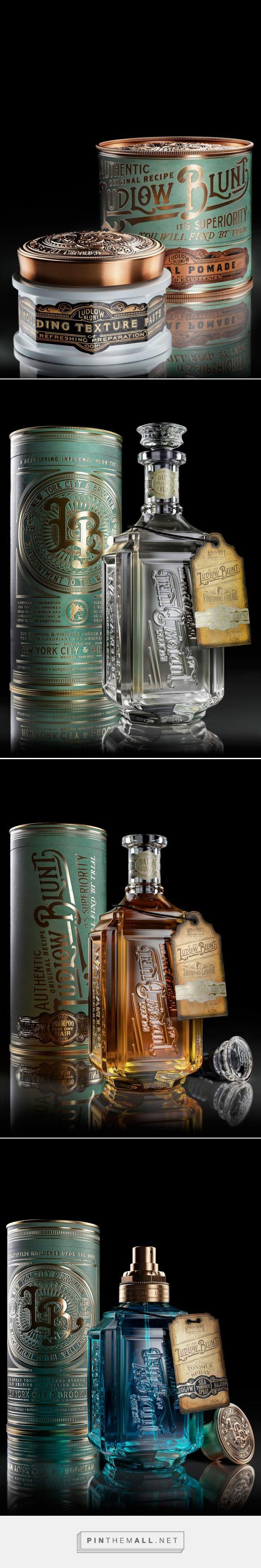 Ludlow Blunt Victorian barbershop packaging design by Stranger & Stranger (USA) -http://www.packagingoftheworld.com/2016/09/ludlow-blunt.html