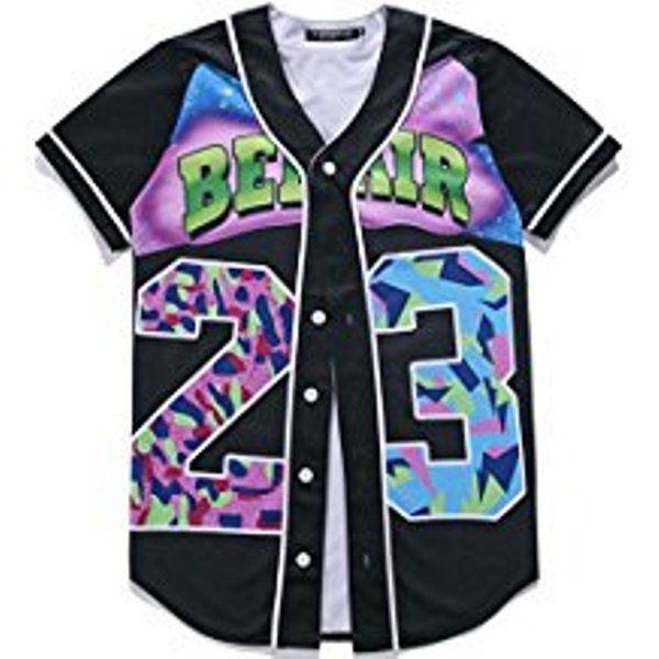 Pizoff 3D Print Baseball Jersey Shirts