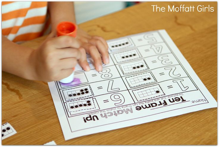 Ten Frame Make a Match and TONS of other FUN hands-on math and literacy activities!