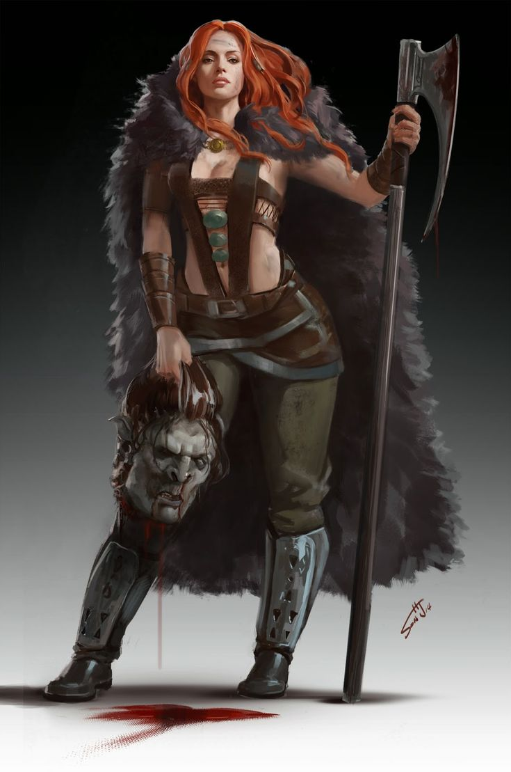 Some absolute astounding work here character drawings - Fantasy female warrior artwork ...