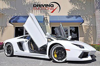 2012 Lamborghini Aventador LP700-4 Coupe 2-Door 2012 LAMBORGHINI AVENTADOR LP700-4 COUPE! ADV1 WHEELS! SPORT EXHAUST! LOW MILES!