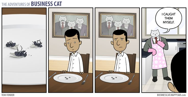Business Cat - Dinner