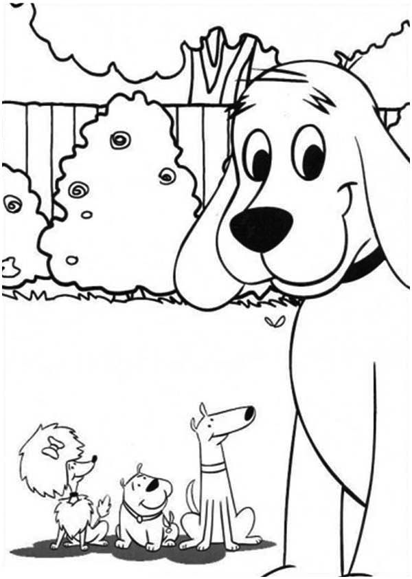 Dog Clifford The Big Red Dog And Friends Coloring Page Dog