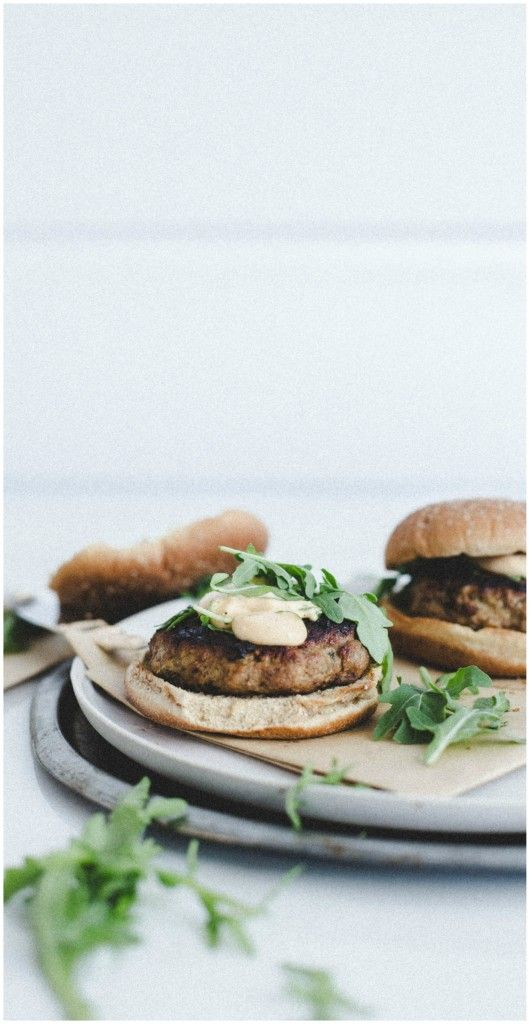 Lime Chicken Burgers with Chipotle Lime Mayonnaise | WholeYum.com