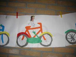 www.jufjanneke.nl | Op de fiets.. Fiets knutselen (de Tijdrit)