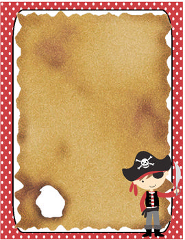 This is a one-page stationary that has is pirate themed.  Perfect! Go mathis pirates!!