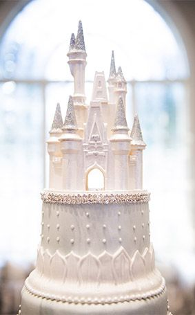 Cinderella Castle wedding cake topper at Franck's Studio in Walt Disney World