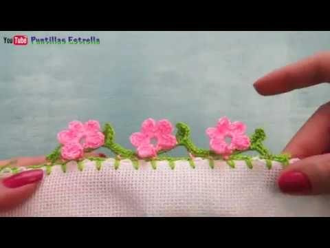 Bico de crochê carreira única#64 - YouTube