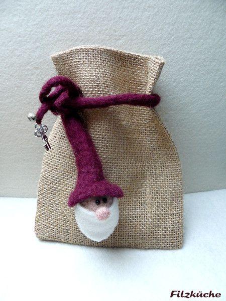 Geschenkverpackungen - Wichtel - Geschenktasche - ein Designerstück von filz-kueche bei DaWanda