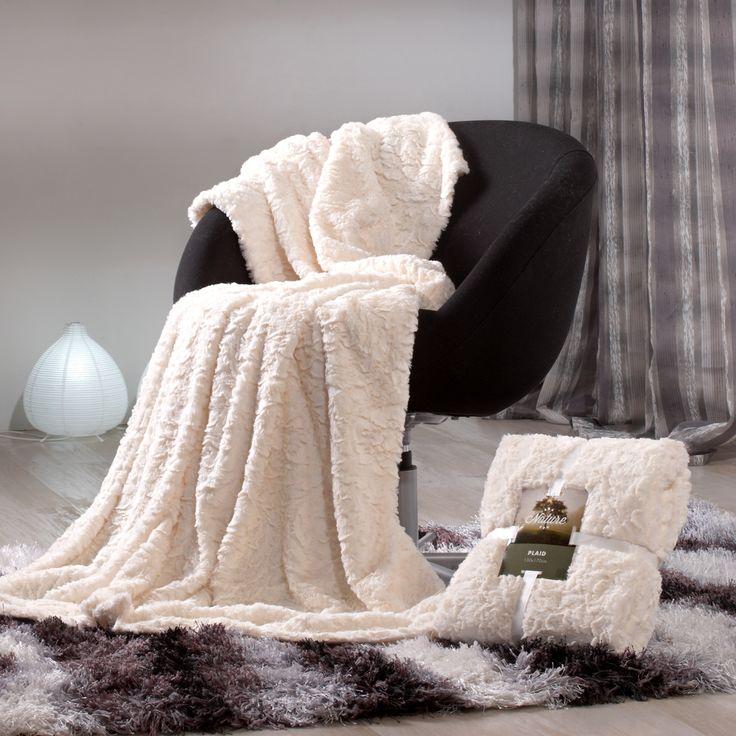Plaid sofa mogro blanco plaid para sof o para cama de for Plaids para sofa