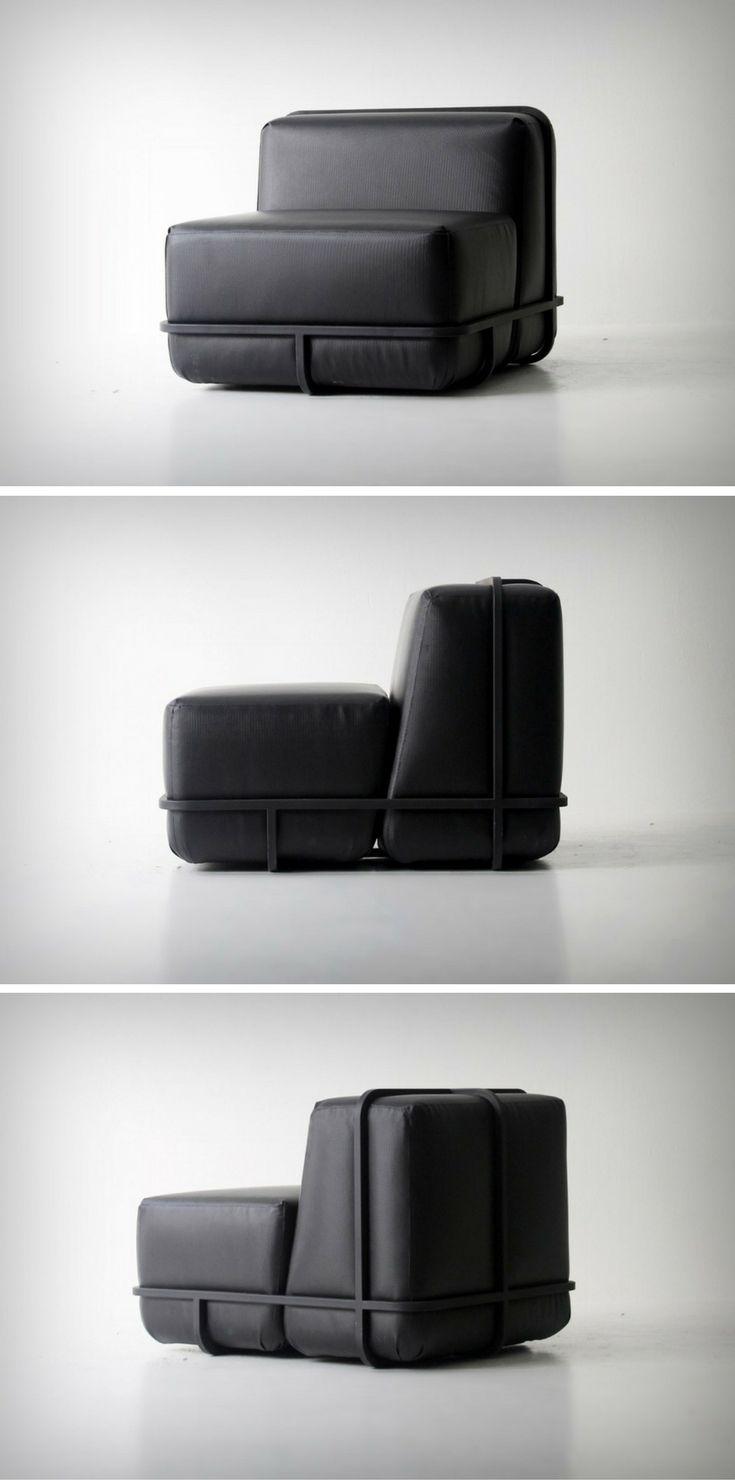 Three-piece, easily (dis)assembled Frame Sofa designed by Cho Hyung Suk