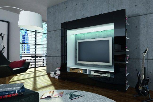 Moderne Design TV Medienwand EPIC schwarz hochglanz 185cm Klavierlack Optik - Pures Understatement für Ihr Wohnzimmer! Unsere Wohnwand EPIC bietet Ihnen die Möglichkeit Ihr HiFi-Equipment und Heimkino