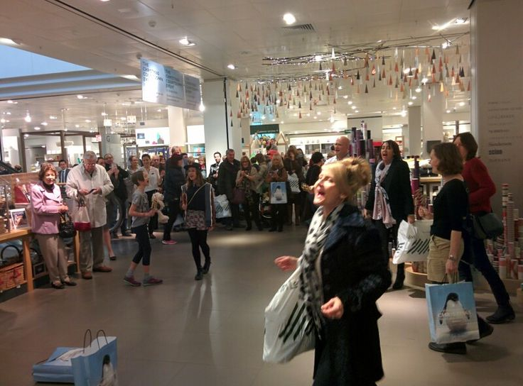 Singing Flash Mob for John Lewis by Wizardry Events