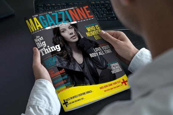 Magazine Cover Template by Star Graphic Design on @creativemarket