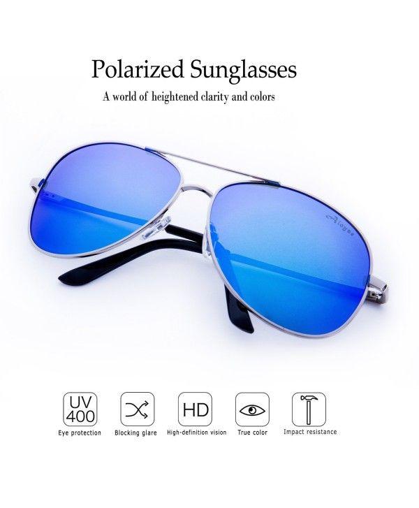 782dfcf02e2 Polarized Aviator Sunglasses For Men Women Metal Frame UV Protection ...